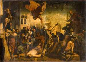 The Miracle of the Hammer (after Jacopo Tintoretto)