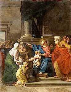 JESUS APPELANT A LUI LES PETITS ENFANTS