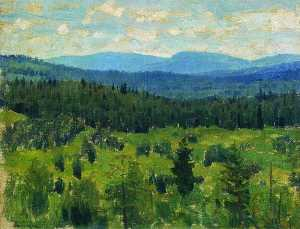 Landscape in the Ural Mountains