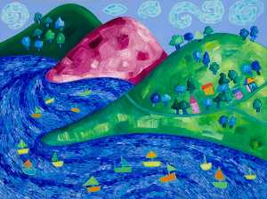 Dream Valley (triptych, right panel)