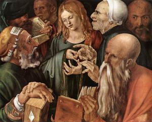 Albrecht Durer - Christ Among the Doctors - (paintings reproductions)