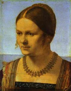 Albrecht Durer - Portrait of a Young Venetian Woman - (paintings reproductions)