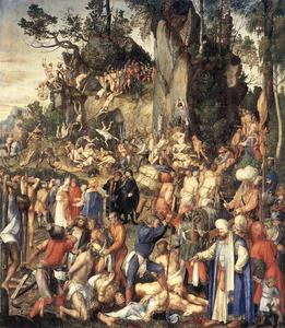 Albrecht Durer - The Martyrdom of the Ten Thousand - (Famous paintings)