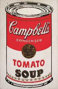 Andy Warhol - Campbell'S Soup Can (tomato) - (Famous paintings reproduction)