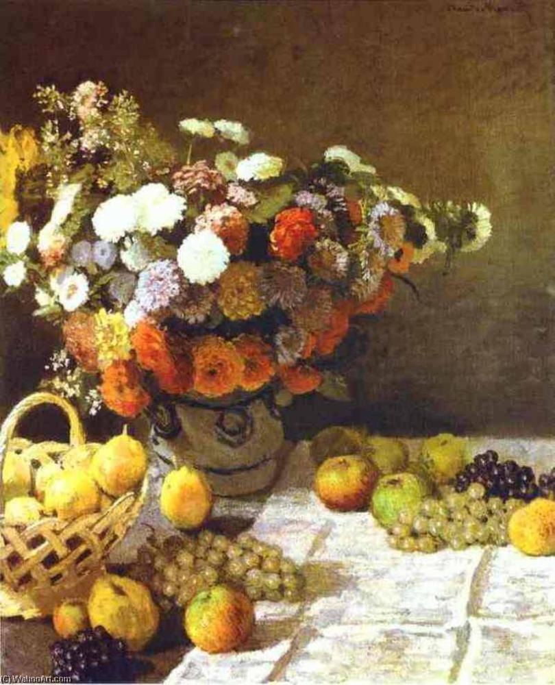 Fiori e Frutta di Claude Monet (1840-1926, France) | Riproduzioni Di ...
