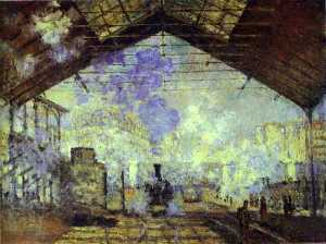Claude Monet - Gare Saint Lazare, Pari - (paintings reproductions)