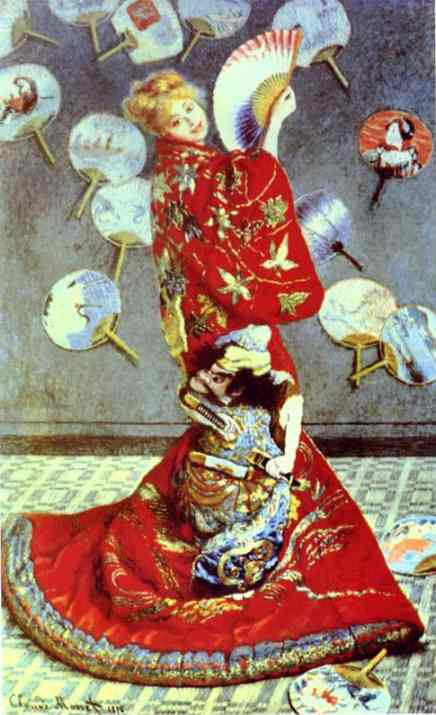 Madame Monet in Japanese Costume (La Japonaise), 1876 by Claude Monet (1840-1926, France) | Paintings Reproductions Claude Monet | WahooArt.com