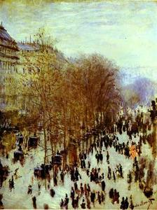 Claude Monet - The Boulevard des Capucines - (Famous paintings reproduction)