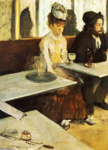 Edgar Degas - The Absinthe Drinker - (Famous paintings reproduction)