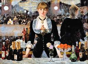 Edouard Manet - A Bar at the Folies-Bergere - (Famous paintings)