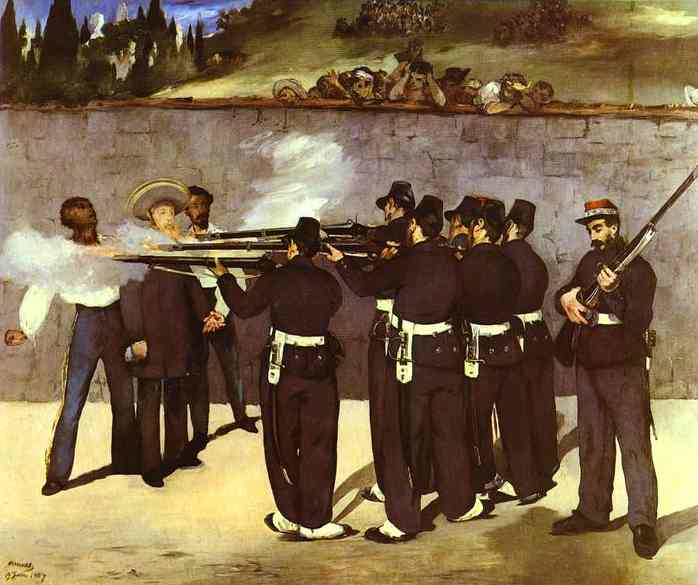 The Execution of the Emperor Maximilian of Mexico - Edouard Manet