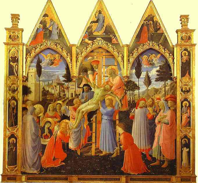 The Deposition by Fra Angelico (1395-1455, Italy) | Paintings Reproductions Fra Angelico | WahooArt.com