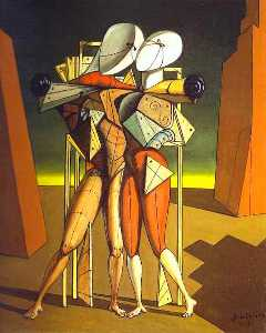 Giorgio De Chirico - Hector and Andromache - (oil painting reproductions)