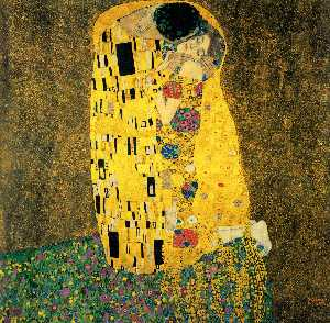 Gustav Klimt - The Kiss (Bacio) - (paintings reproductions)