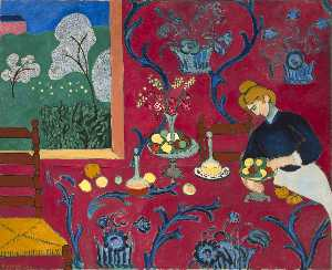 Henri Matisse - Harmony in Red - (paintings reproductions)