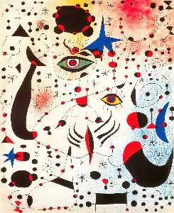 Joan Miro - Ciphers and Constellations, in Love with a Woman - (Famous paintings)
