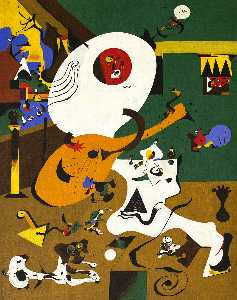 Joan Miro - Dutch Interior I - (paintings reproductions)