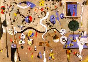 Joan Miro - Harlequin's Carnival - (Famous paintings reproduction)