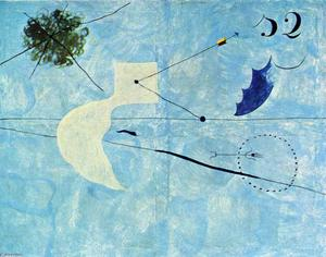 Joan Miro - Siesta - (Famous paintings)