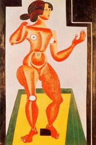 Joan Miro - Standing Nude - (Famous paintings reproduction)