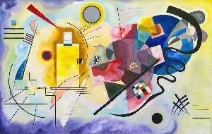 Wassily Kandinsky - Yellow, Red, Blue - (Famous paintings reproduction)