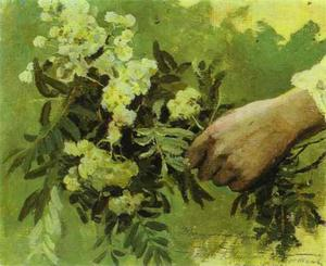 Mikhail Nesterov - A Hand with Flowers