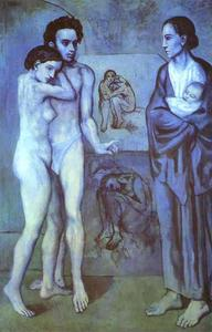 Pablo Picasso - La Vie (Life) - (Famous paintings reproduction)