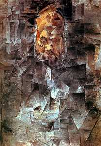 Pablo Picasso - Portrait of Ambroise Vollard - (Famous paintings)