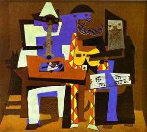 Pablo Picasso - Three Musicians - (Famous paintings)