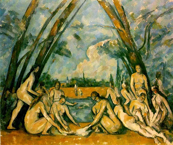 Large Bathers (Philadelphia), 1905 by Paul Cezanne (1839-1906, France) | Reproductions Paul Cezanne | WahooArt.com