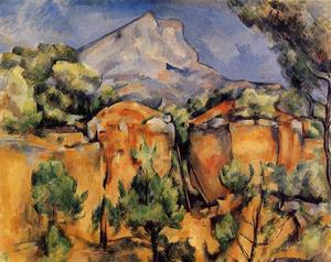 Paul Cezanne - Mont Sainte-Victoire Seen from the Bibemus Quarry - (paintings reproductions)