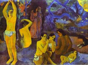 Paul Gauguin - D'où venons nous Que sommes-nous Où allons-nous (Where Do We come from. What Are We. where Are We Going) - (Famous paintings reproduction)
