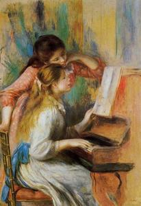 Pierre-Auguste Renoir - Girls at the Piano