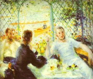 Pierre-Auguste Renoir - The Luncheon of the Boating Party - (paintings reproductions)