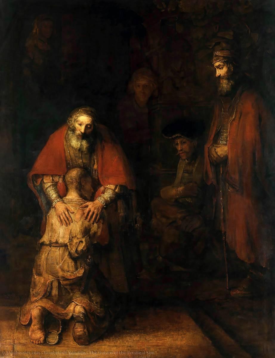 The Return Of The Prodigal Son 1669 By Rembrandt Van Rijn 1606 1669 Netherlands Museum Quality Copies Rembrandt Van Rijn Wahooart Com