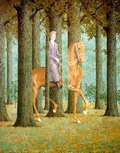 Rene Magritte - The Blank Check - (oil painting reproductions)