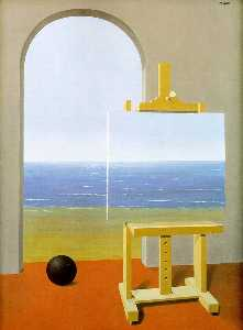 Rene Magritte - The Human Condition - (Famous paintings reproduction)