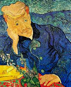 Vincent Van Gogh - Portrait of Dr. Gachet - (Famous paintings)