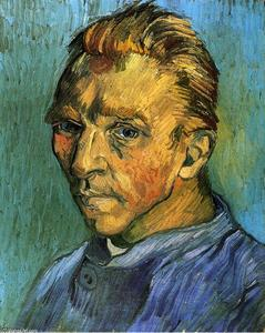 Vincent Van Gogh - Self Portrait - (Famous paintings reproduction)