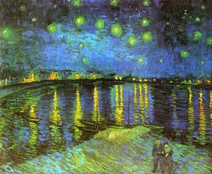 Vincent Van Gogh - Starry Night Over the Rhone - (Buy fine Art Reproductions)