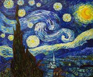 Vincent Van Gogh - Starry Night - (oil painting reproductions)