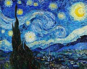 Vincent Van Gogh - Starry-Night - (oil painting reproductions)