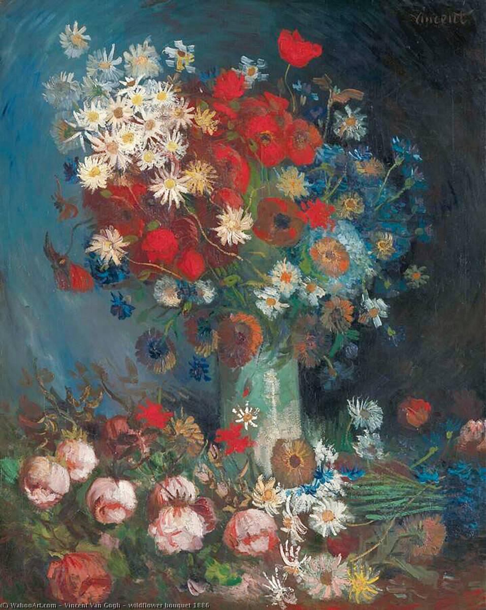 Wildflower Bouquet 1886 By Vincent Van Gogh 1853 1890 Netherlands Reproductions Vincent Van Gogh