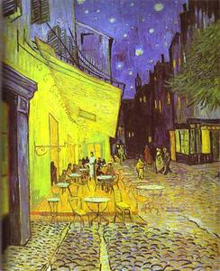 Vincent Van Gogh - Café Terrace at Night - (paintings reproductions)