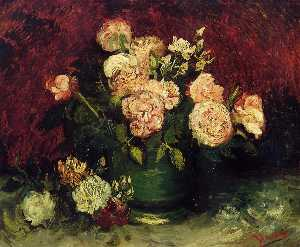 Vincent Van Gogh - Bowl with Peonies and Roses - (Buy fine Art Reproductions)