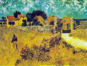 Vincent Van Gogh - Farmhouse in Provence - (Famous paintings reproduction)