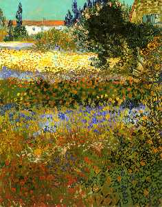 Vincent Van Gogh - Flowering Garden - (paintings reproductions)
