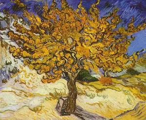 Vincent Van Gogh - Mulberry Tree, The - (Famous paintings reproduction)