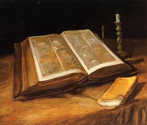 Vincent Van Gogh - Still Life with Bible - (paintings reproductions)