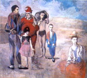 Pablo Picasso - Saltimbanques (The Family of Saltimbanques) - (paintings reproductions)